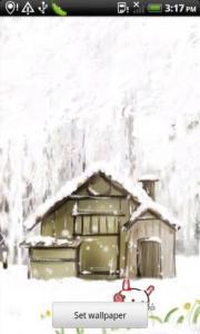 Winter Bunny cartoon wallpaper