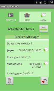 SMS Quarintine