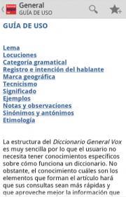 Diccionario General Vox de la Lengua Española