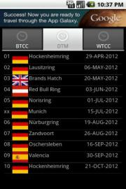 Unofficial Touring Car Schedule 2012