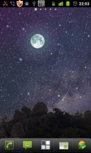 Night Sky Meteor Shower Live Wallpaper