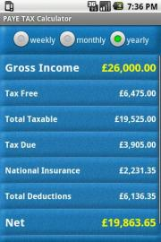 PAYE TAX Calculator
