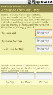 Electricity Calculator