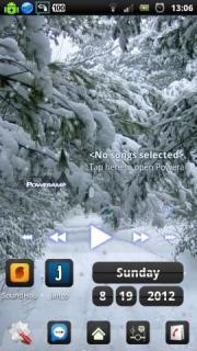 Snowfall Winter Road Free LWP