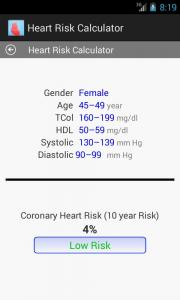 Heart Risk Calculator