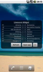 Livescore Widget