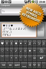 Symbols keyboard (trial version)