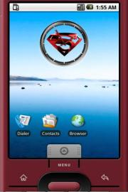 Superman Logo Widget Clock