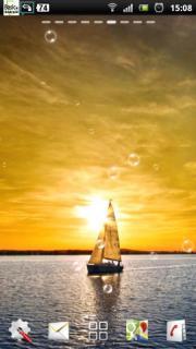 Sailing Sunset Sailboat