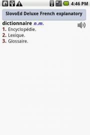 SlovoEd Deluxe French explanatory dictionary