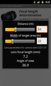CCTV Lens Calculator