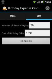 Birthday Expense Calculator