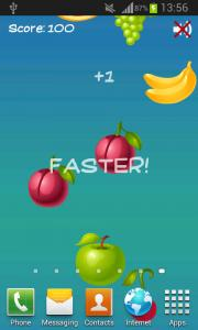 Tap on Fruits!
