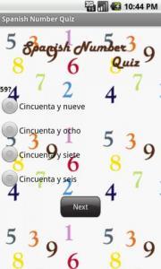 Spanish Number Quiz