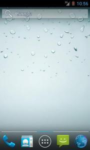 Fake iPhone Rain Wallpaper