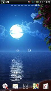 Moon Beach at Night