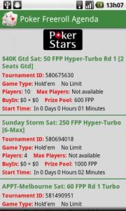 Poker Freeroll Agenda
