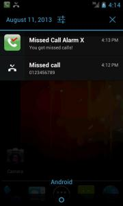 Missed Call Alarm X
