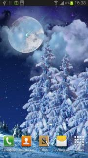 Winter night Wallpaper