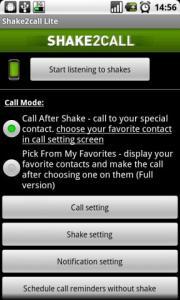 Shake2call Lite