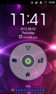 GO Locker Neon Purple HD Theme