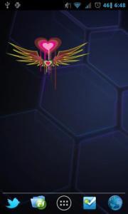 Colorful Hearts Widget 3x2