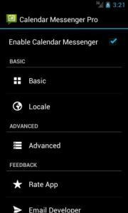Calendar Messenger Lite