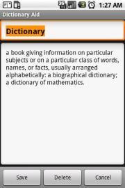 Dictionary Aid