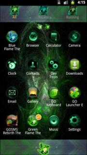 Green Flame GO Theme