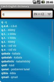 Czech-English dictionary (lite*)