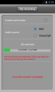 Call Recoder Z