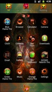 Orange Flame GO Theme