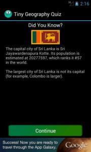 Tiny Geography Quiz