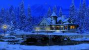 3D Snowy Cottage Screensaver Free