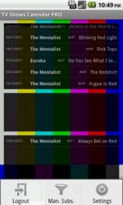 TV Shows Calendar