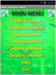 Math Equation Solver