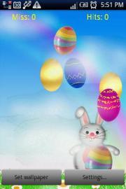 Easter Rabbit Cracks Eggs