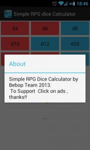 Simple RPG dice Calculator