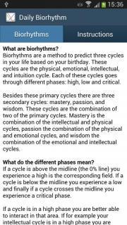 Daily Biorhythm