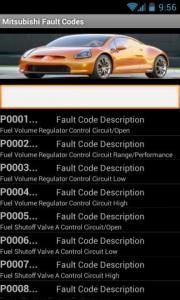 Mitsubishi Fault Codes