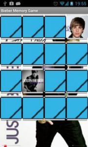 Justin Bieber Memory Game
