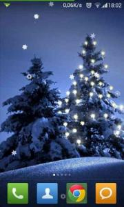 Beautiful Winter Snowfall LWP