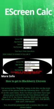 Blackberry Escreen Calc