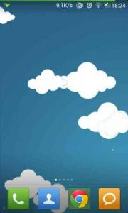 Cartoon Moving Clouds LWP
