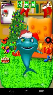 Talking Shark Pet Santa Outfit