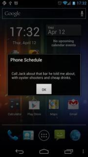 Phone Schedule