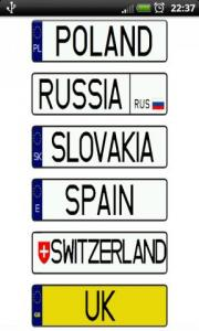Vehicle registration plates