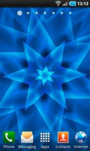 Blue Swirling Star