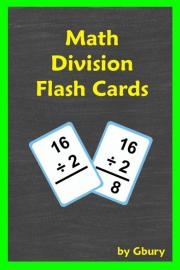 Math Division Flash Cards