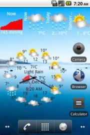Weather, Quakes, Barometer, Clock, Alerts